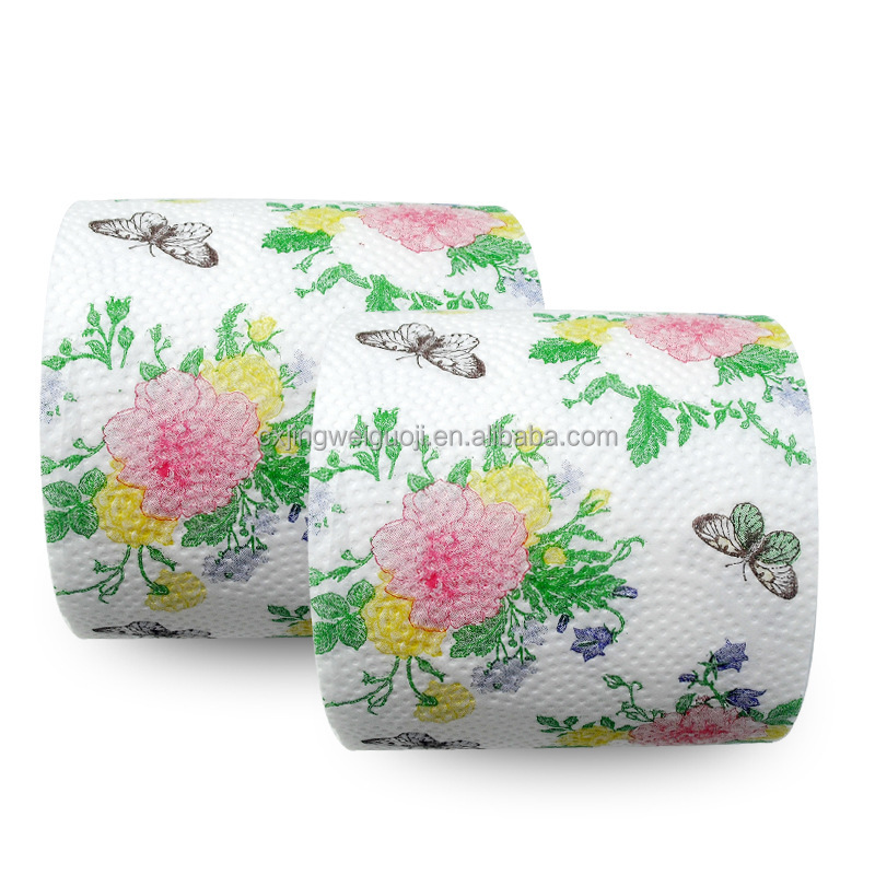 custom printed toilet paper 3000m minimum (3 spot colours) material options: 22gsm tissue paper   contact us for a quote on custom printed items: - boxes - gift wraps - packets.