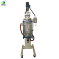 Downward Open lifting body/ rotate ( easy clean) Jacketed Glass Reactor