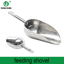 large capacity 304 stainless steel feed scoop pet food shovel for animals