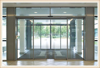 New lock automatic sliding glass door for office