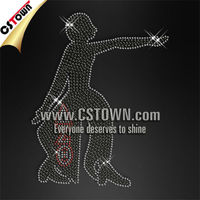 Delta sigma theta detailed lady rhinestone heat transfer design
