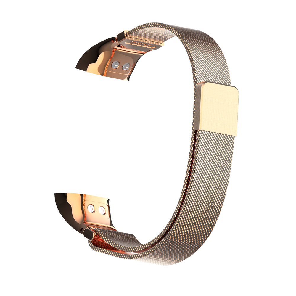 Hold mi new design 7082 series rose gold color magnetic milanese SS watch strap band for HUAWEI band 4