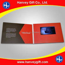 350gsm paper card+TFT screen+USB port Material and Greeting Card Card Type 7 inch video brochure
