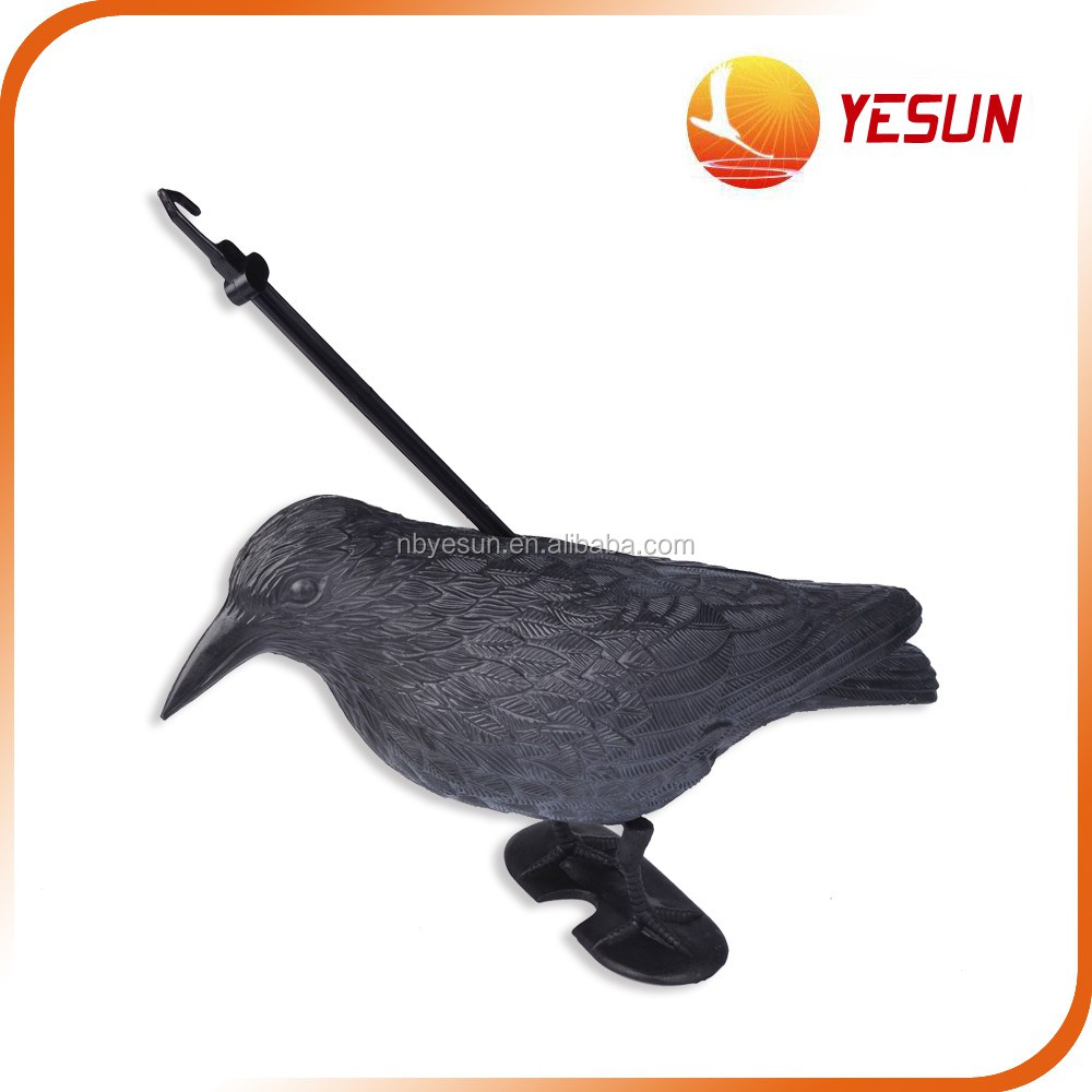 With quality warrantee factory directly garden decoration plastic raven