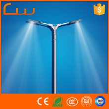 5 years warranty Q235 double arms street lamp post modern LED light the lamp