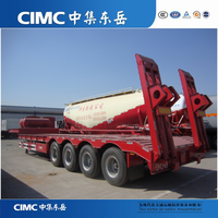 CIMC Heavy Duty Low Bed Trailer 100 Ton Low Bed Semi Trailer Dimension Customized Low Bed Truck Trailer