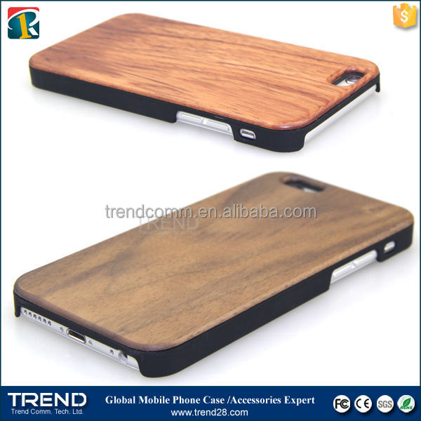 natural bamboo wooden mobile phone case for apple iphone 6