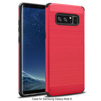 Shockproof protective cell phone case, brush armor TPU hard PC phone case cover for samsung Note 8 case