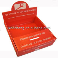 AIDS Orange Polypropylene Plastic Corrugated Donation Box