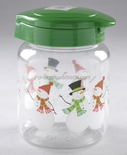 Promotional plastic honey jar pot /mason jar