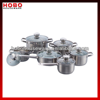 12 Pcs Stainless Steel Straight Cookware Set stainless steel cooking pot