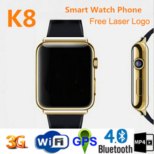 New model 2015 android 4.4 3g wifi wrist watch cell phone