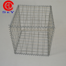 China direct manufacturer 50*50mm hole size galvanized welded mesh gabion box stone cage