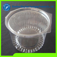 Custom round clear transparent plastic food hamburger cake sandwich container box packaging with lid mug cover