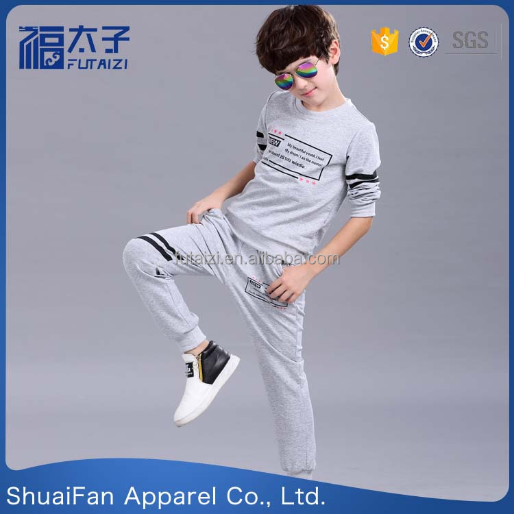 korean style casual children boys clothes clothing sets kids sports wears set