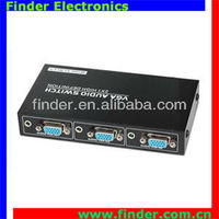 2 way Metal VGA Switch with Audio, support wide screen
