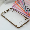competitive price tpu border+clear pc back phone case for Samsung galaxy note3