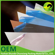 pe surface protective film rolls for pastic sheets like PVC ABS PS PC PMMA