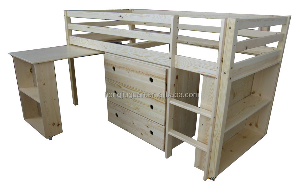 kid'sSolid pine wood bed ,mid sleeper,loft bed