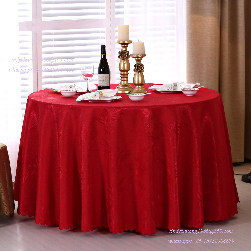fresh red gorgeous 8 seat round tableclothshiny