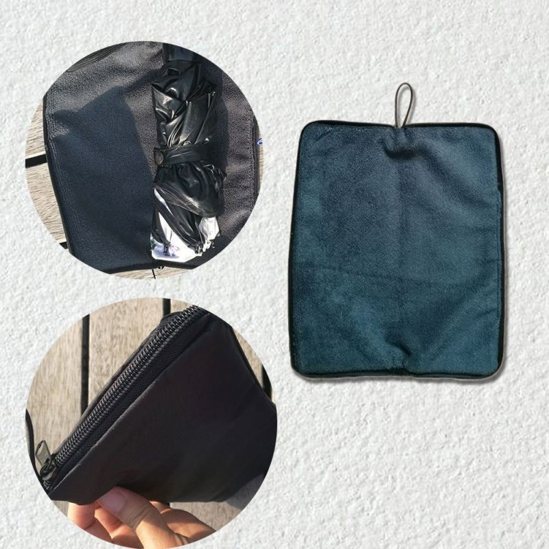 Gift Items 5 Folding Super Mini  Umbrella with Water Absorbent Cover Case