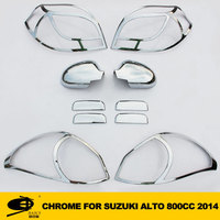 Complete Full Set of Exterior Chrome accessories with 3M Tape fits SUZUKI ALTO 800CC 2014 chrome car accessories