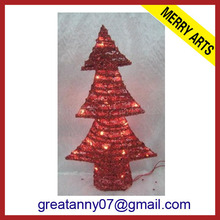 2014 hot sale christmas box christmas tree flashing star make wooden christmas tree