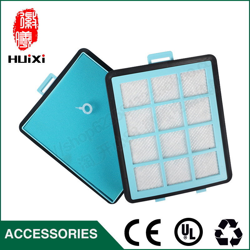 Hot sale high quality blue washable air hepa filter h11 material for parts Vacuum Cleaner air hepa filter