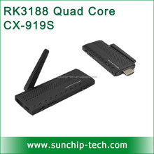 Sunchip smart tv dongle New Arrival android 4.4 kitkat HD media player Quad Core CX-919S 2G/8G