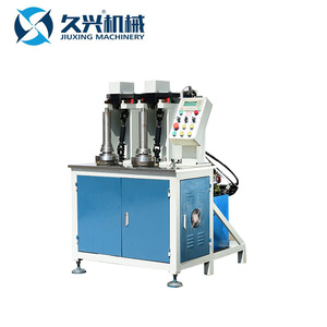Automatic vertical double station hydraulic rolling pipe threading machine