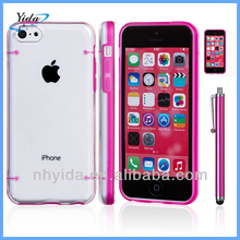 Candy Color Phone Case Cover For iPhone 5C Hard Transparent Plastic Case Cover