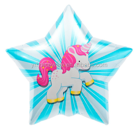 Unicorn party foil balloon new baby born party supplies