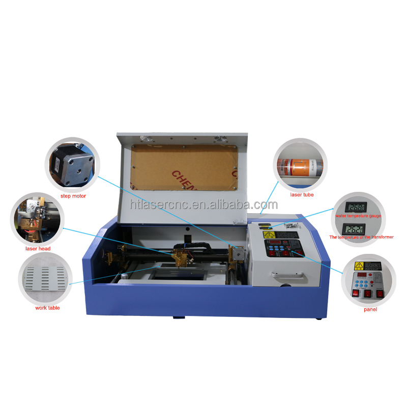 manufacture mini co2 40w textile applique wood craft acrylic sheet wed invit card laser engarvor cut machine