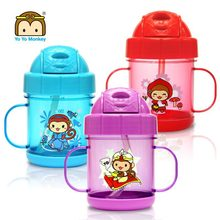 Bpa free trian kids 2 handle straw cup trainer cup plastic drinking cup 200ml