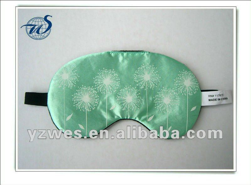 apple green comfortable with customized logo for Christmas Day eyemask