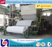 Low cost sugarcane bagasse tissue paper machine, toilet jumbo roll machine price