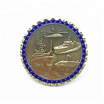 custom engraved military metal coast guard blank  coins