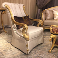 BISINI Nifty Hand Made Gild Marquetry Antique Fabric Reproduction French Style Armchair For  Living Room Furniture BF08-YS011