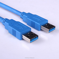 High quality cost-effective USB 3.0 A Male to A Male Cable Blue or Black Jacket
