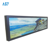 Indoor bar lcd display 28 inch 1920*540 Bus tv digital screen signs advertising