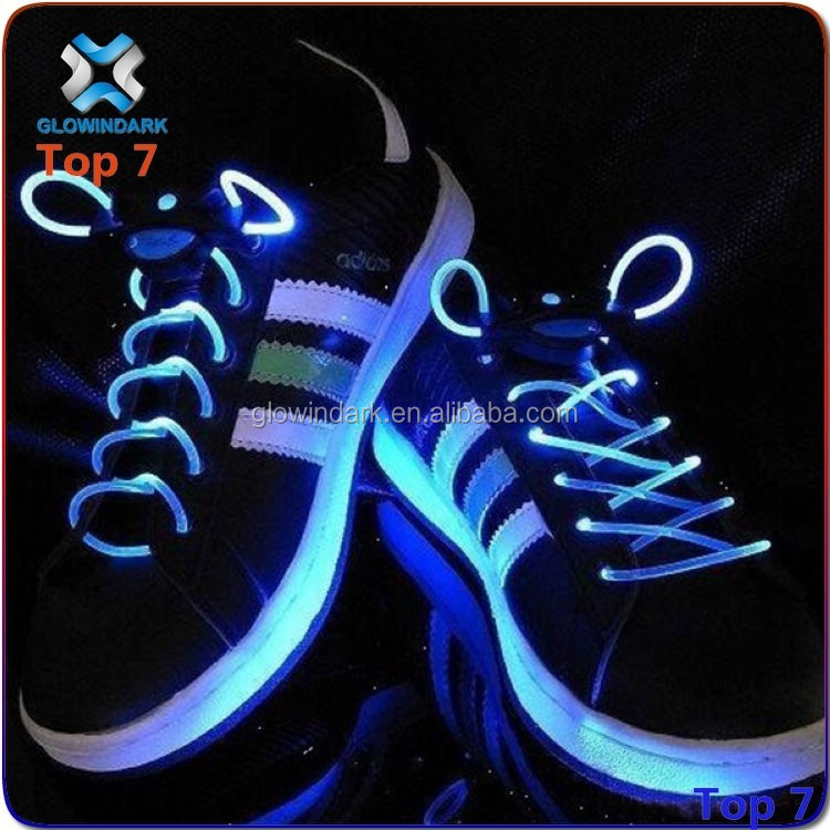 Fashion LED shoe laces for night jogging, cheap price light up glow shoelaces, LED flashing shoelaces made in China