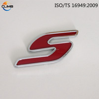 cheap 3d stickers chrome car custom single letters Car Emblem for car for motorcycle