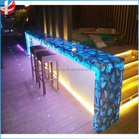 Bottle Storage Glow Cocktail table / Liquid Drinking Wine Led Bar Counter