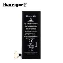 OEM/ODM lithium polymer battery 0 cycle cell phone 3.7v battery for iphone 4s