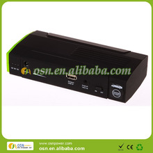 OEM/ODM accepted -car jump starter battery with 5V 2A/12V/16V/19V output,15V input