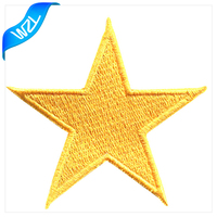 Golden bling star embroidered style products clothing badge sublimation patches
