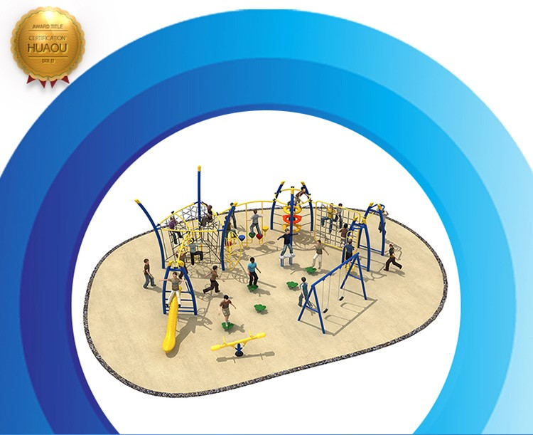 New outdoor plastic playground for children, outdoor playground climbing nets for sale