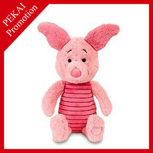 China soft toys factory soft pink pig toy