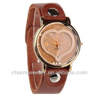 Hot Sale Women Brown Leather Japenese Quartz Wrist Watch WL-016
