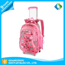 2017 promotional latest kids school trolley bag for boys and girls